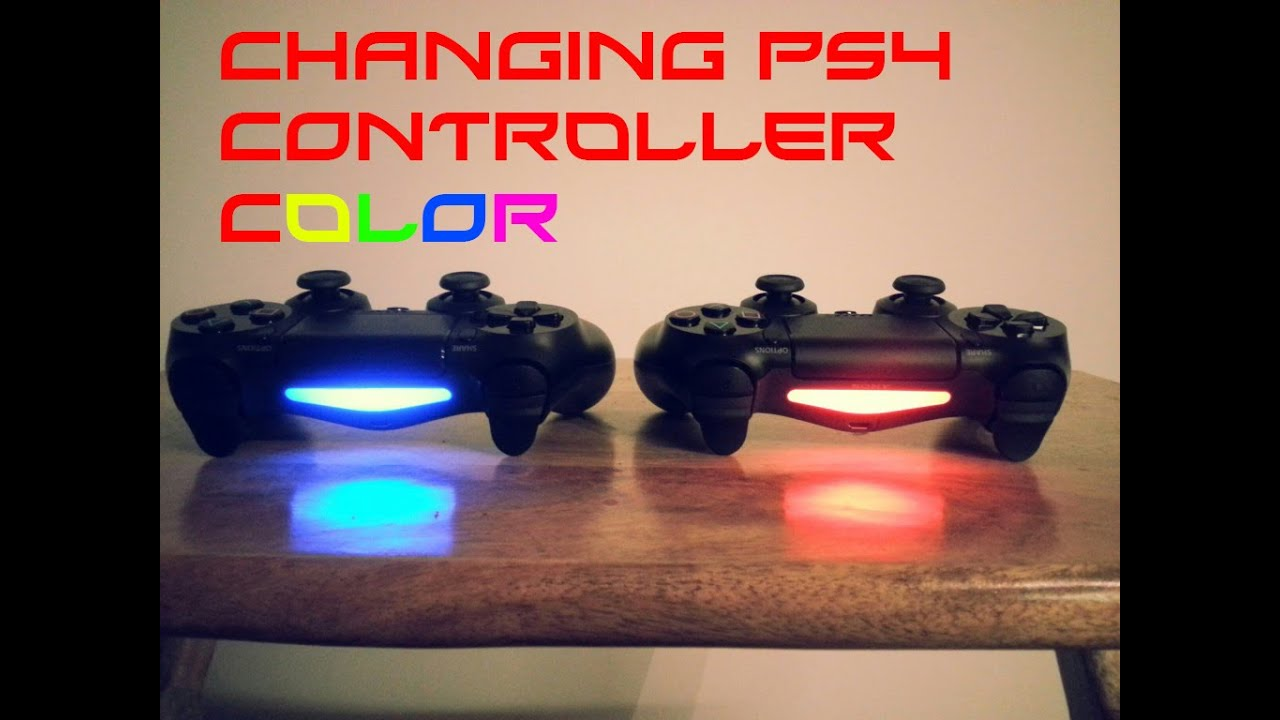 How To Change Dualshock 4 Color How To Change The Light