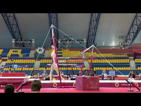 Juliette Bossu  - bars - podium training DOHA