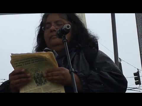 Radical Women's Christina Lopez at Seattle May Day 2017