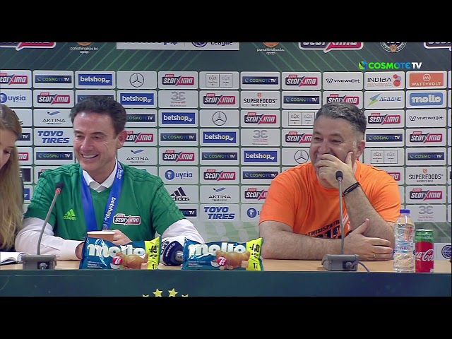 Basket League Post - Game Press Conference | Panathinaikos BC OPAP Athens vs Promitheas BC | Game 3