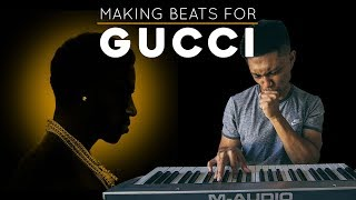 Making a SMOOTH TRAP beat for Gucci's, Mr. Davis