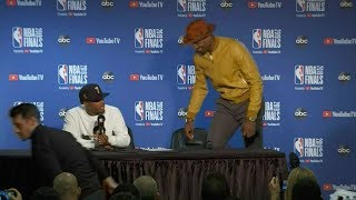 Kyle Lowry Makes Fun Of Serge Ibaka's Outfit - Full Press Conference | Warriors vs Raptors | Game 4