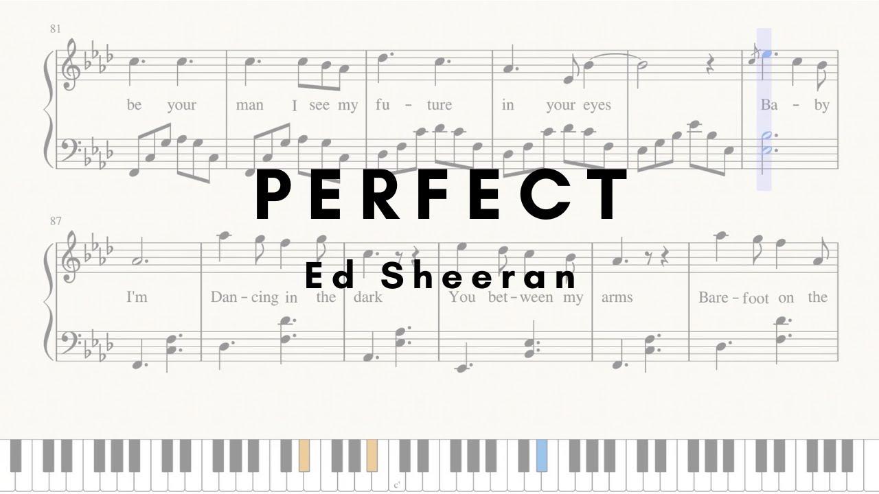 Ed Sheeran - Perfect - Easy piano (SHEETS)
