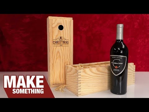 Easy To Make Finger Joint Wine Boxes | Christmas Gift & Craft Show Ideas
