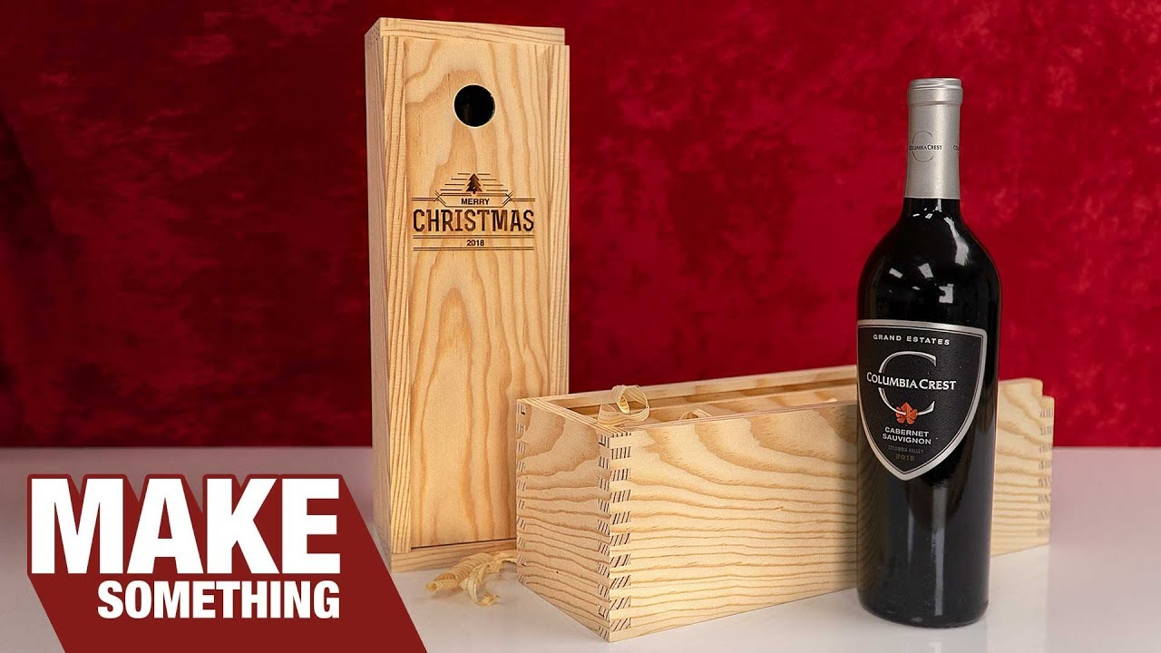 Easy to Make Finger Joint Wine Boxes | Christmas Gift & Craft Show ...