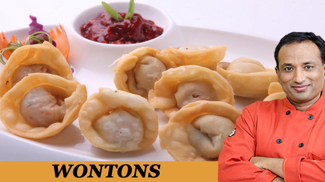 Chinese Fried Vegetable Wontons - Veg Dumpling - YouTube