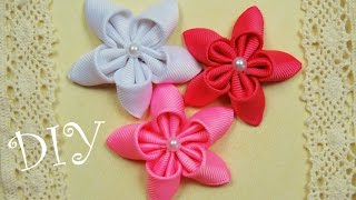 Милые Декоративные Цветочки. Мастер-класс / Simpl Ribbon Flowers / ✿ NataliDoma