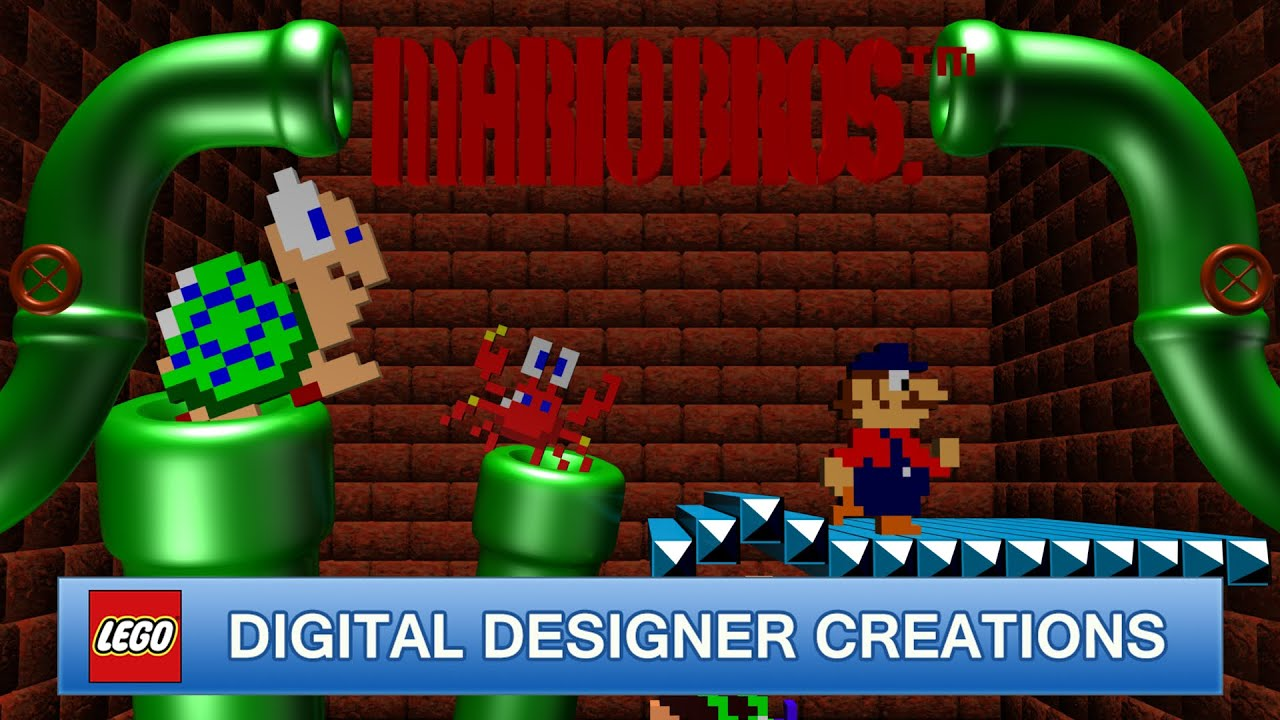 mario bros 200 subscribers special lego digital designer creations youtube. Black Bedroom Furniture Sets. Home Design Ideas