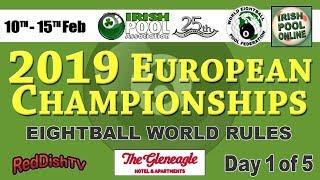 2019 European Championships  - LIVE 10th Feb, Gleneagle Hotel, Co. Kerry