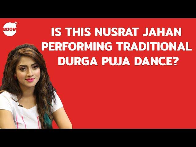Is This TMC MP Nusrat Jahan Performing Traditional Durga Puja Dance?