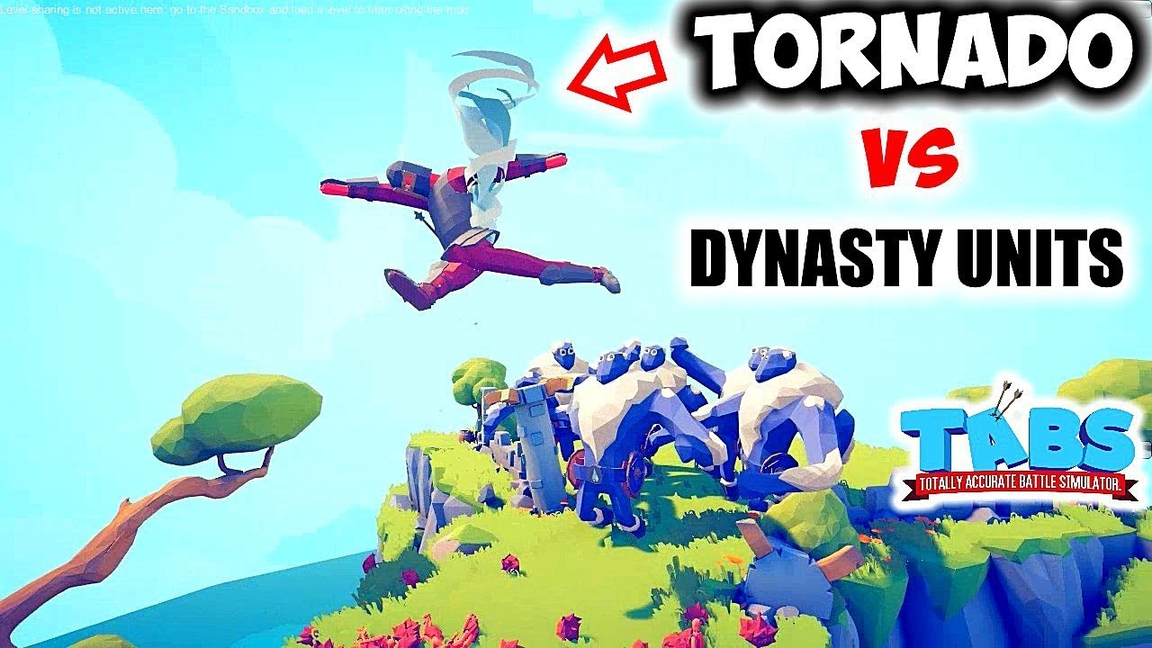 Totally Accurate Battle Simulator - TORNADO 1v10 Every Dynasty Update Units! (TABS)
