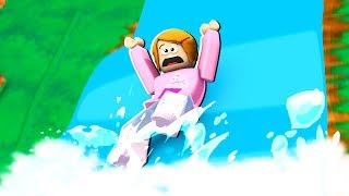 Roblox Escape The Waterfall Obby With Molly!