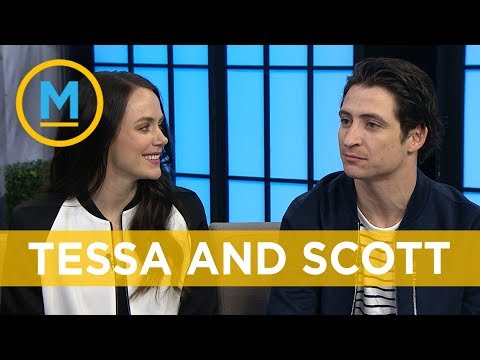 "Tessa Virtue and Scott Moir teach Ben and Lindsey ""the look"" 