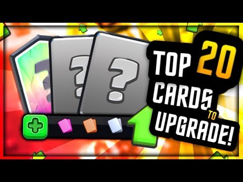 TOP 20 CARDS TO UPGRADE & PLAY IN NEW META