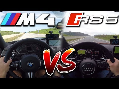 0-295km/h | Audi RS5 Vs BMW M4 | TOP SPEED, Acceleration TEST✔