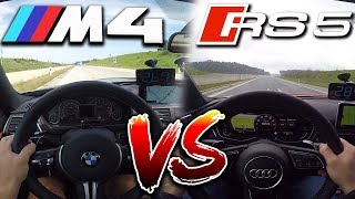 0-295km/h   Audi RS5 vs BMW M4   TOP SPEED, Acceleration TEST✔