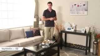 Sutton Glass Top Console Table With Slat Bottom - Product Review Video