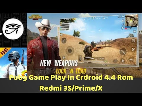 Pubg🔥Game Play In Crdroid 4.4 Rom Redmi 3S/Prime/X📱