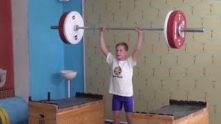 Ксенофонтов Матвей, 13 лет, вк 34 Толчок с плинтов 37.5 кг