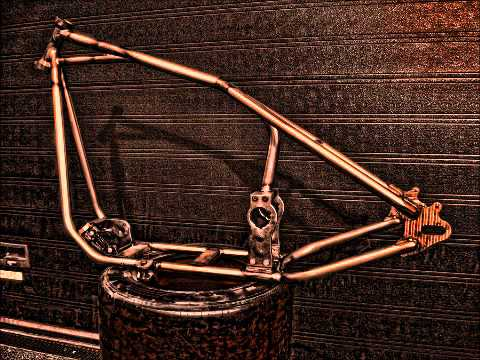 2004-up Rubber Mount Sportster Hardtail Frame, By Wolinger Lodge