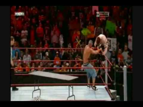 John Cena VS Sheamus (Tables Match) Part 2/2 - YouTube