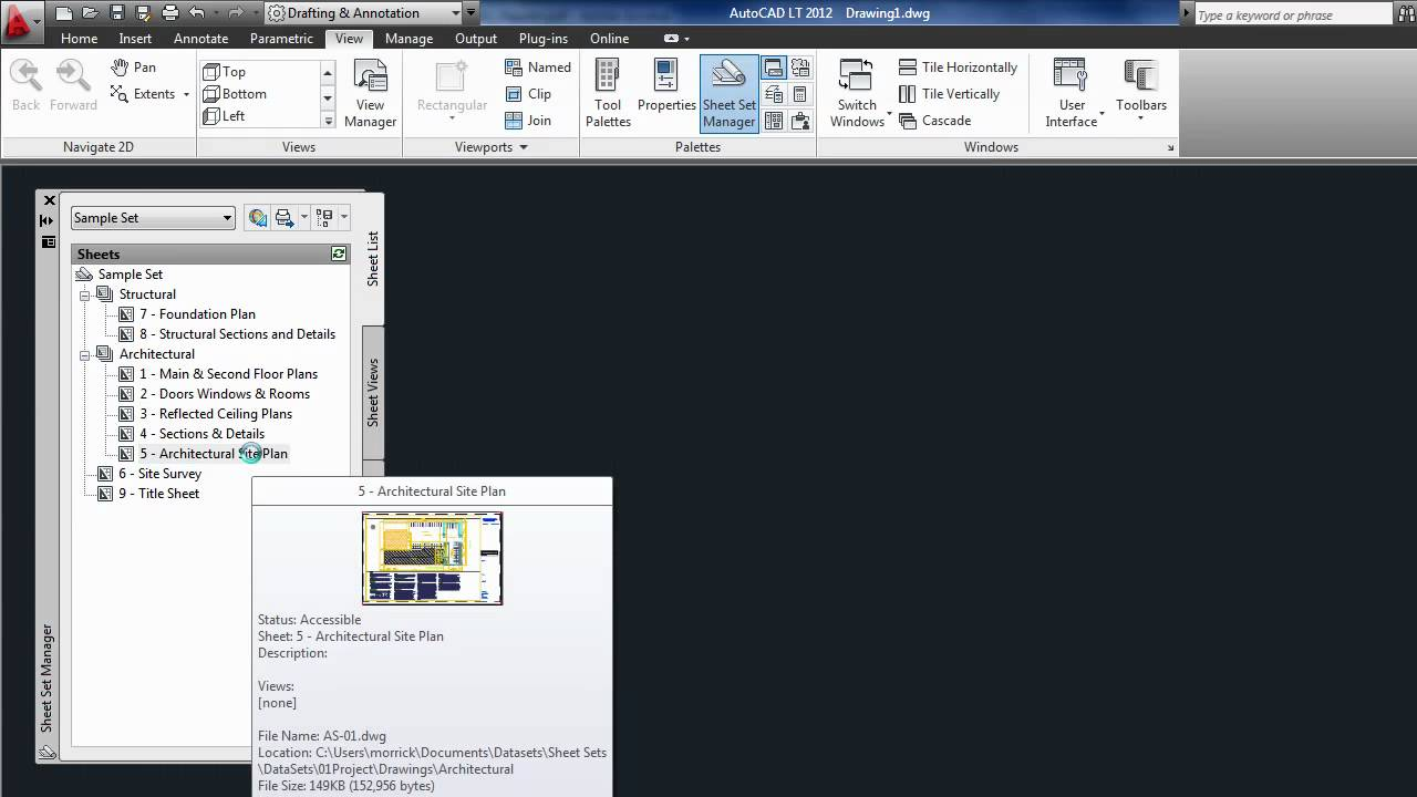 how to create sheet sets in autocad