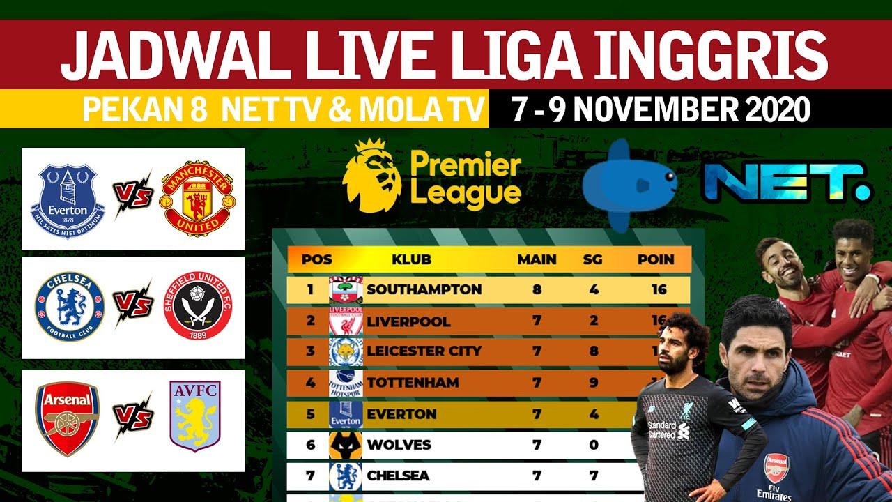 Jadwal Bola Malam Ini Siaran Langsung Liga Inggris Pekan 8 Live Net Tv Mola Tv Youtube