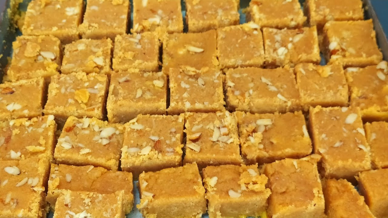 Mohanthal Recipe   Traditional Sweet Mohanthal   Danedar Mohanthal Recipe -  YouTube