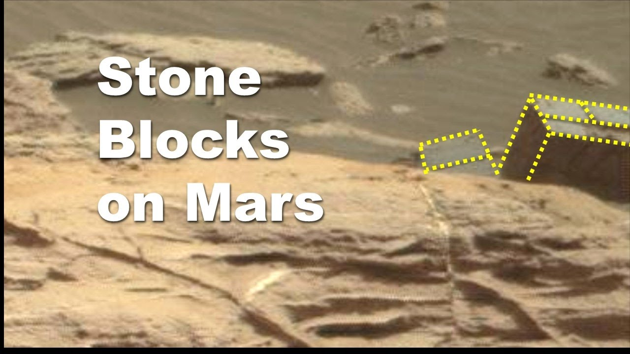Carved stone blocks on mars youtube