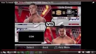 How To Download WWE Smackdown Vs Raw 2008 For PC - Game Full Version