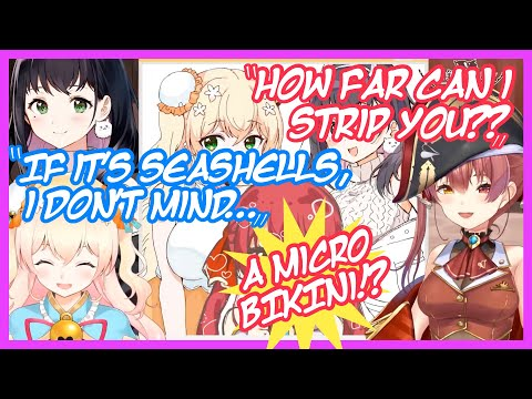 Marine gets Nene's Approval to Sandwich her Finger in her Cleavage  [ENG]