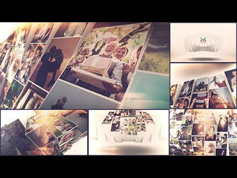 Photo Mosaic Slideshow | After Effects Template | Video Displays