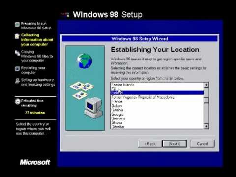 Windows 98 Second Edition Desktop Install
