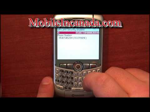 How to enter unlock code on Rogers Blackberry Curve 8300 instructions - www.Mobileincanada.com