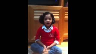 Nidhi singing Ambiga Naa Ninna Nambide