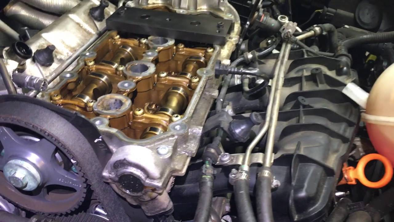 2006 volkswagen passat 2 0 turbo intake camshaft replacement youtube 2006 vw pat engine diagram [ 1280 x 720 Pixel ]