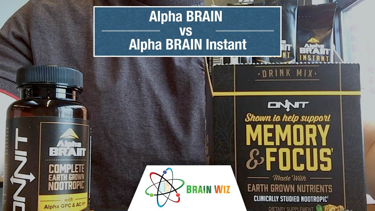 Alpha Brain Versus Alpha Brain Instant Youtube
