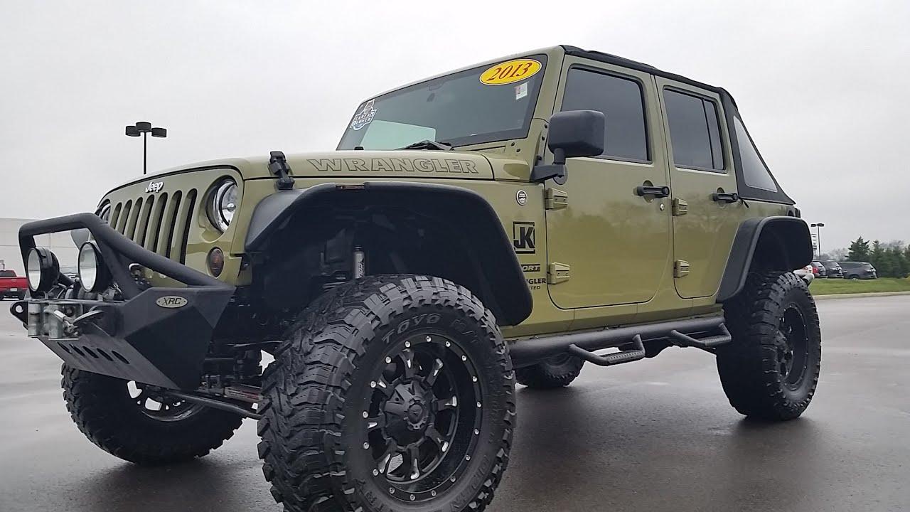 Sold 2013 Jeep Wrangler Unlimited 4x4 Jk Poison Spider