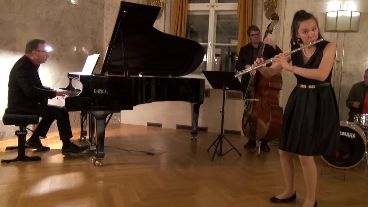 "Angela plays ""Suite for Flute & Jazz Piano Trio"""