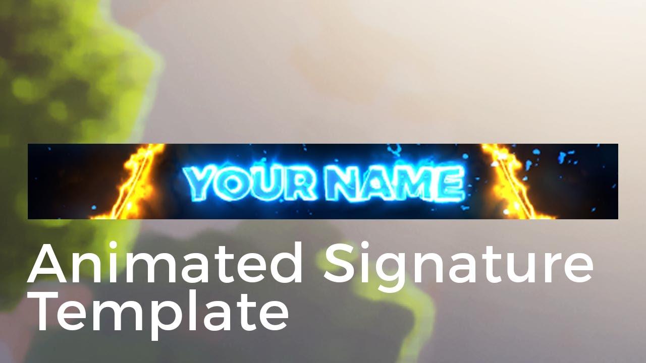 Animated Forum Signature Template