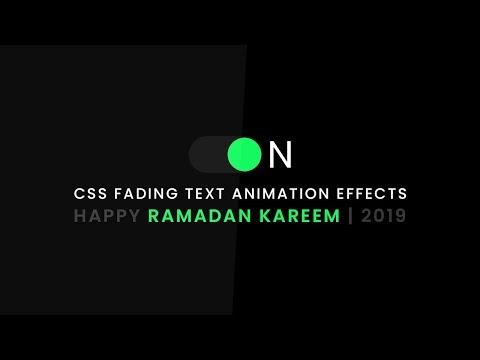 css-fading-text-animation-effects- -happy-ramadan-kareem- -2019