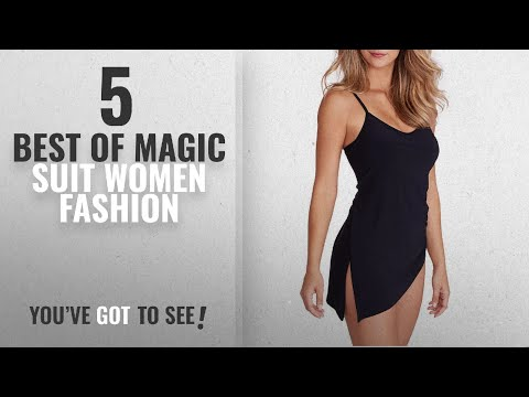 a4a2fa3146e Magic Suit Women Fashion [2018 Best Sellers]: Magicsuit Solids Brynn  One-Piece, 12, Black - YouTube