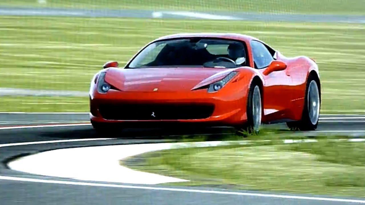 ferrari 458 italia around top gear test track - youtube
