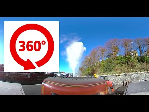 360 Degree Steam Train Journey! Isle of Man - Douglas to Port Erin Station