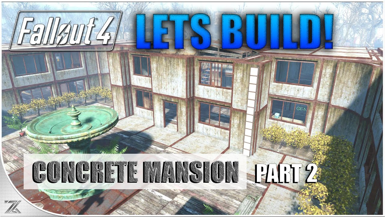 fallout 4 wasteland workshop lets build county crossing part 2 concrete mansion youtube - Concrete House 2016