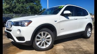 2017 BMW X3 sDrive28i Start Up/ First Person Review
