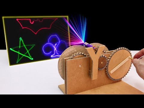How to Make Amazing Laser Light Show Projector from Cardboard (DIY Projects!)
