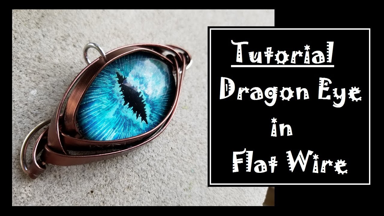 Flat Wire Wrapped Dragon Eye - YouTube