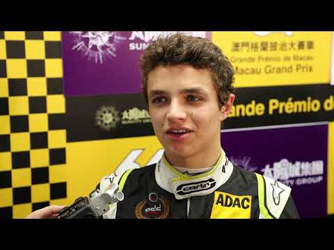 F3 World Cup - Lando Norris Post Race Interview
