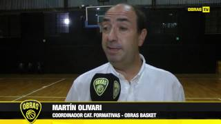 Martín Olivari - Coordinador Formativas - Obras Basket (21-03-2017)